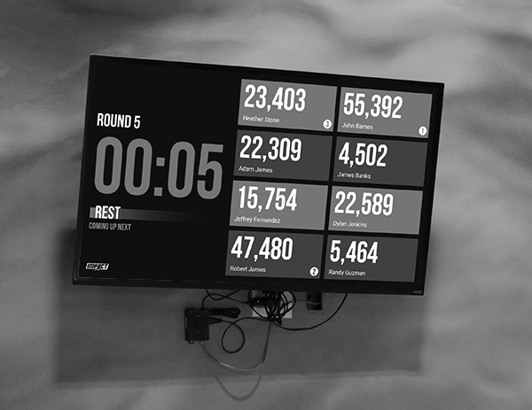 Track real-time scores on  the leaderboard